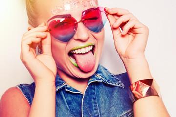 Hipster smiling girl