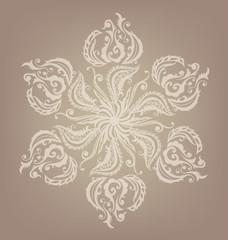 Floral oriental mandala design