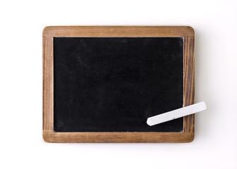 Blank slate and a white chalk