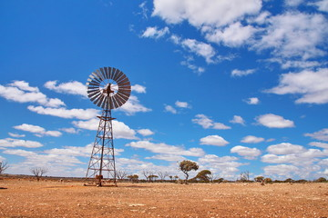 Windmill water pump in Australian outback