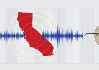 California Earthquake Concept. Vector EPS10 and Raster