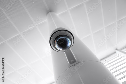 Leinwandbild Motiv Security Camera in Government Owned Building