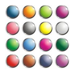 Set of 3D web buttons vector