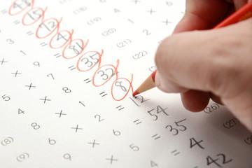 先生の仕事―テストの採点