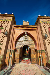 Entrance of a Riad in Morocco