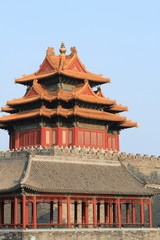 Forbidden city palace Jiaolou tower in Beijing