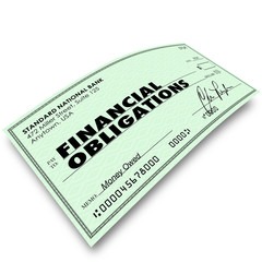 Financial Obligations Check Money Payments Bills Due