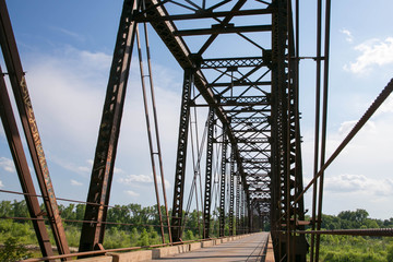 An Old Truss Bridge Crossing the South Canadian River
