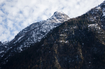 Alps mountain with cloudy background