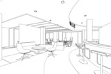 Fototapety outline sketch of a interior pantry area