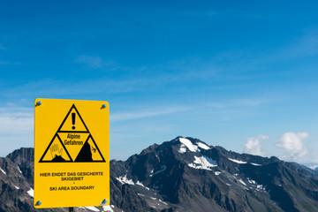 Alpine Gefahr in den Alpen