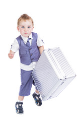 boy with a suitcase