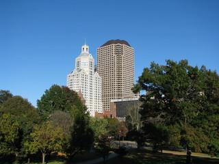 Hartford skyline in autumn