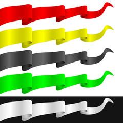 Fluttering ribbons