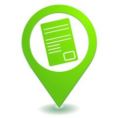 document sur symbole localisation vert