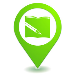 fourniture scolaire sur symbole localisation vert