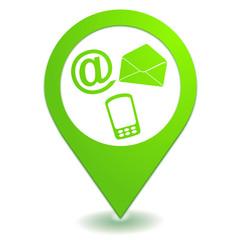 nous contacter sur symbole localisation vert