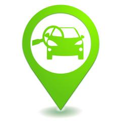 points de contrôle sur symbole localisation vert