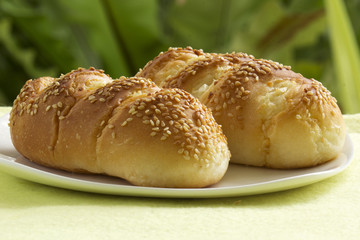Sesame and garlic bread