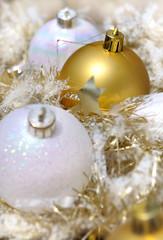 décoration de noël blanc/doré