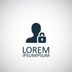 person lock icon.
