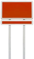 panneau rouge vierge