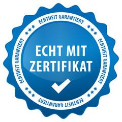 Echt mit Zertifikat - Echtheit garantiert - blau