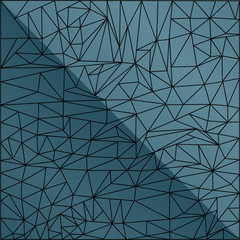 blue abstract mosaic background with black pattern