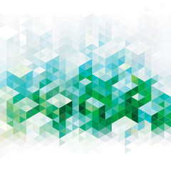 Abstract geometric green urban background.