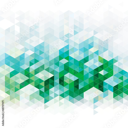 Abstract geometric green urban background. - 68707471