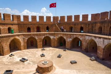 Red Tower (Kizil Kule) inside, Alanya. Turkey.