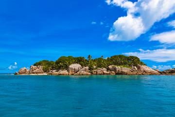 Tropical island at Seychelles