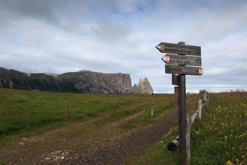 sentieri sull'Alpe di Siusi