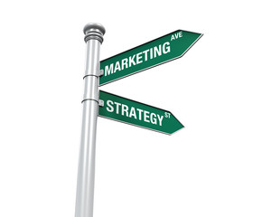 Sign Direction of Marketing and Strategy