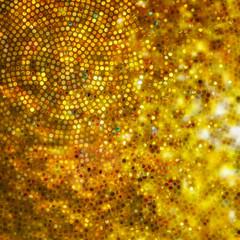 Design on gold glittering background. EPS 10