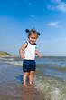 girl on the beach by the sea