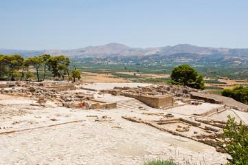 View of Phaistos. Creete, Greece.