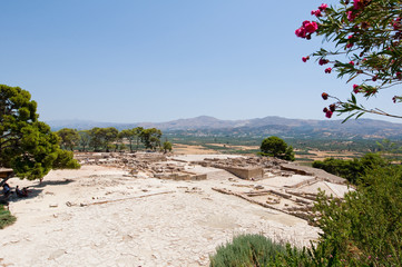 View of Phaistos on Crete island, Greece.