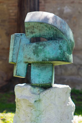 Abstract ancient bronze sculpture