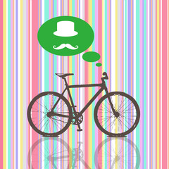 Colorful Vintage  Bicycle