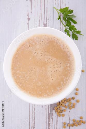 canvas print picture lentil soup