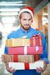 Man shopping for Christmas