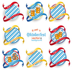 Munich Oktoberfest Round Prongs Emblems Set