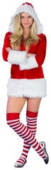 Pretty girl in santa outfit with arms crossed