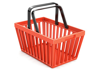 Sopping basket isolated
