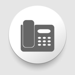 Office Phone Icon. Vector illustration