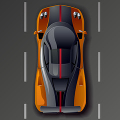 Vector  super sports car