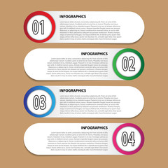 Vector modern infographics for desigh and creative work