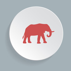 Elephant symbol - vector illustration
