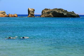 snorkeling in Greece, Creta.